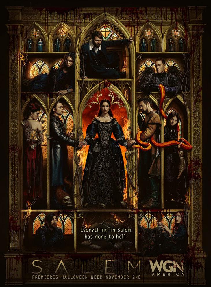 Póster de la tercera temporada de Salem