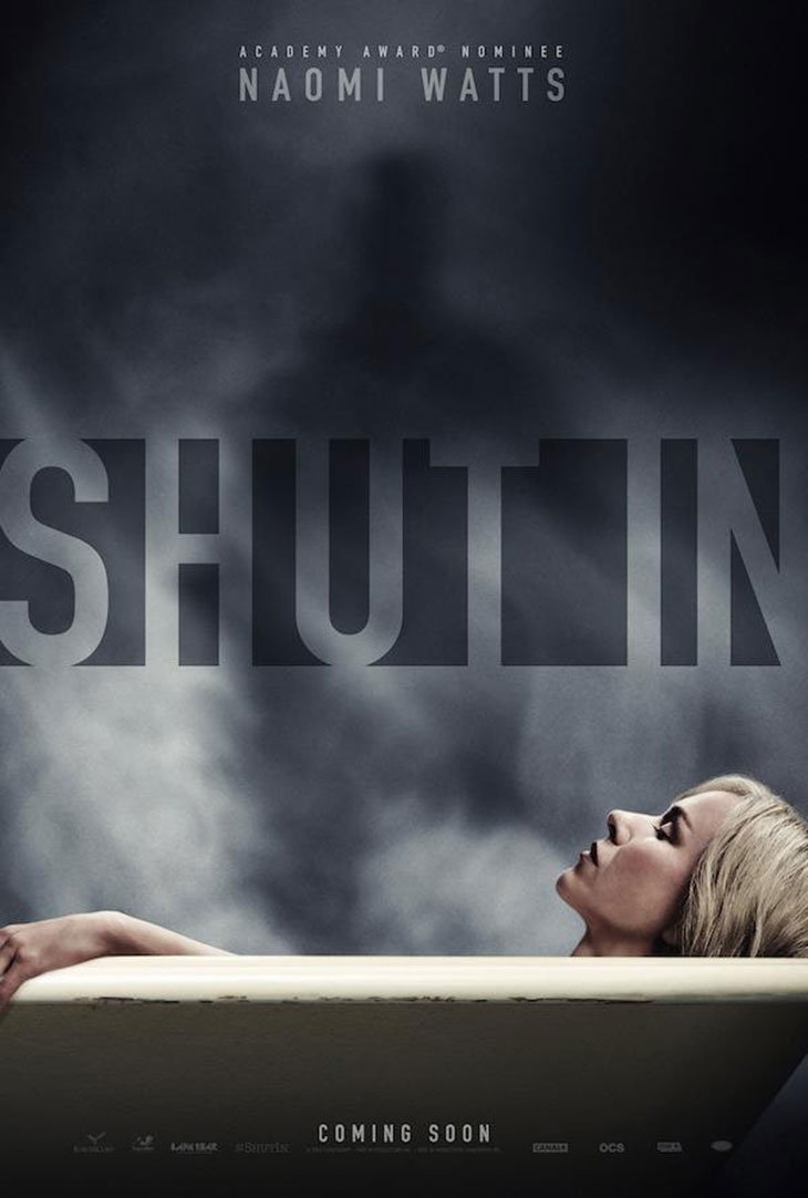 póster de 'Shut in', con Naomi Watts