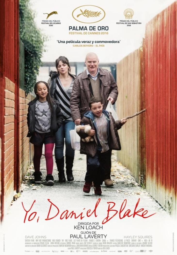 Tráiler y cartel de 'Yo, Daniel Blake'. Palma de oro en Cannes y premio del público en San Sebastián. Estreno en cines 28 de octubre