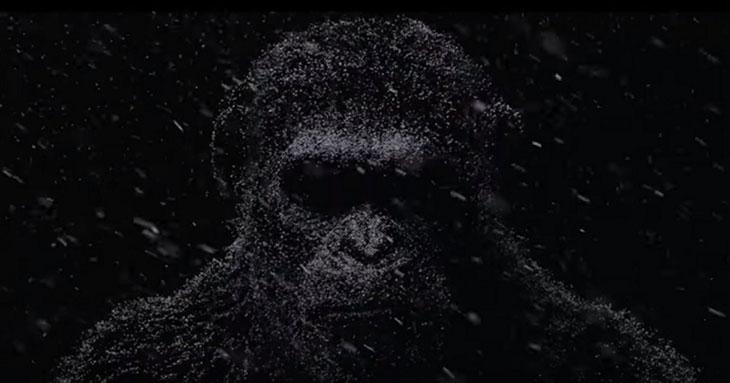 Una imagen del teaser de War for the Planet of the apes