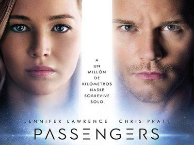 Cartel final en español de 'Passengers' destacada