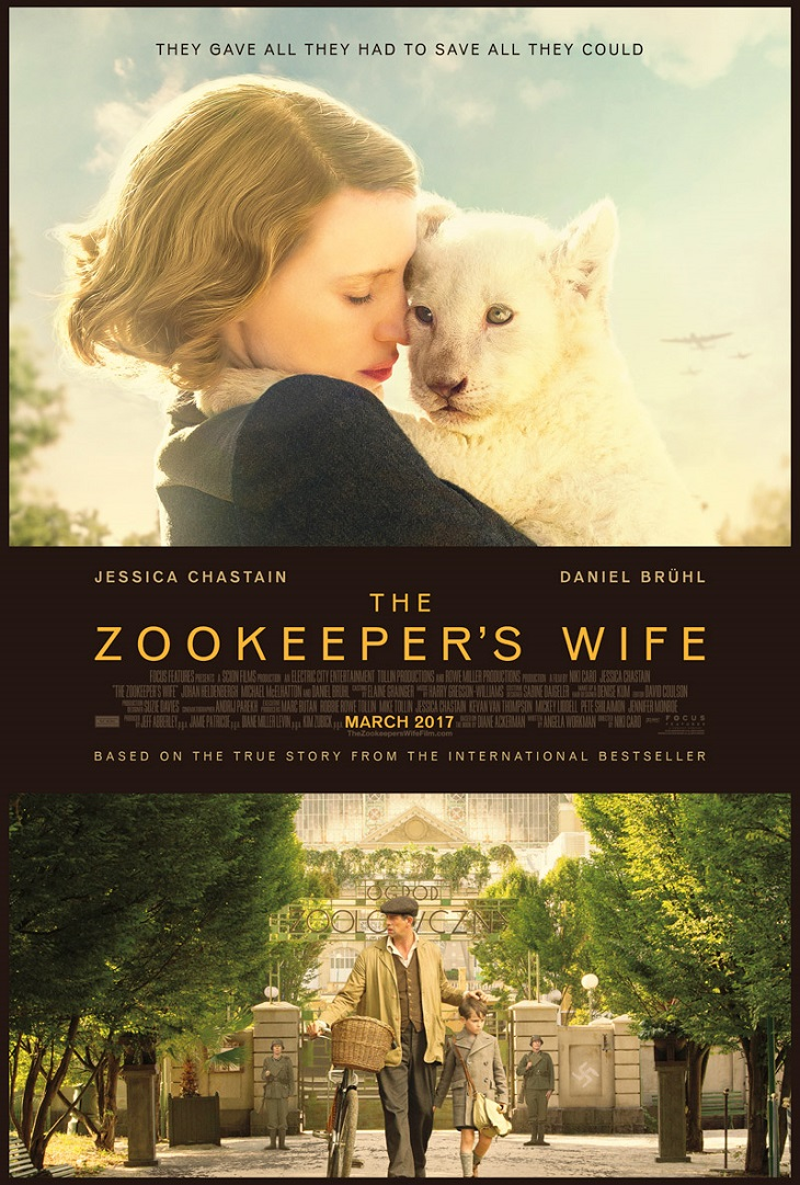 Póster de 'The zookeeper's wife'
