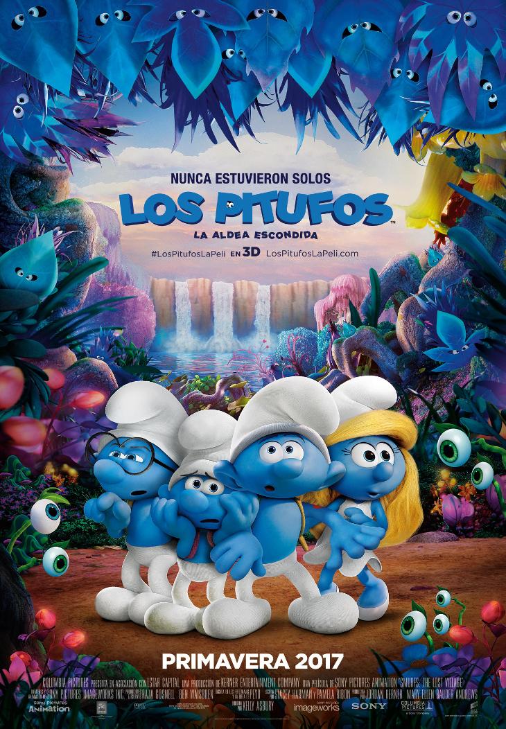 'Los Pitufos: la aldea escondida' cartel final