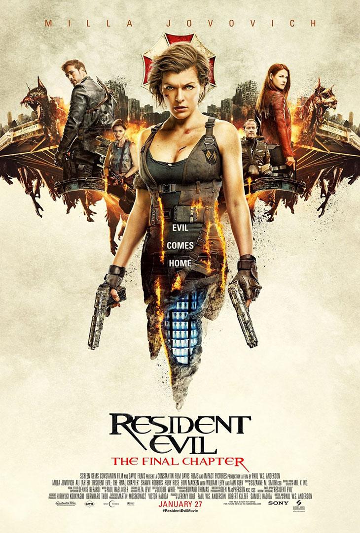 Póster de Resident Evil: el capítulo final