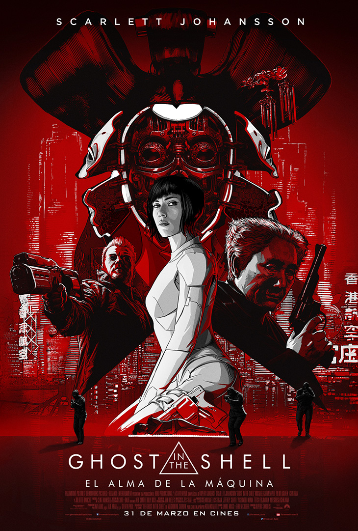 Póster en español de Ghost in the Shell: El alma de la máquina