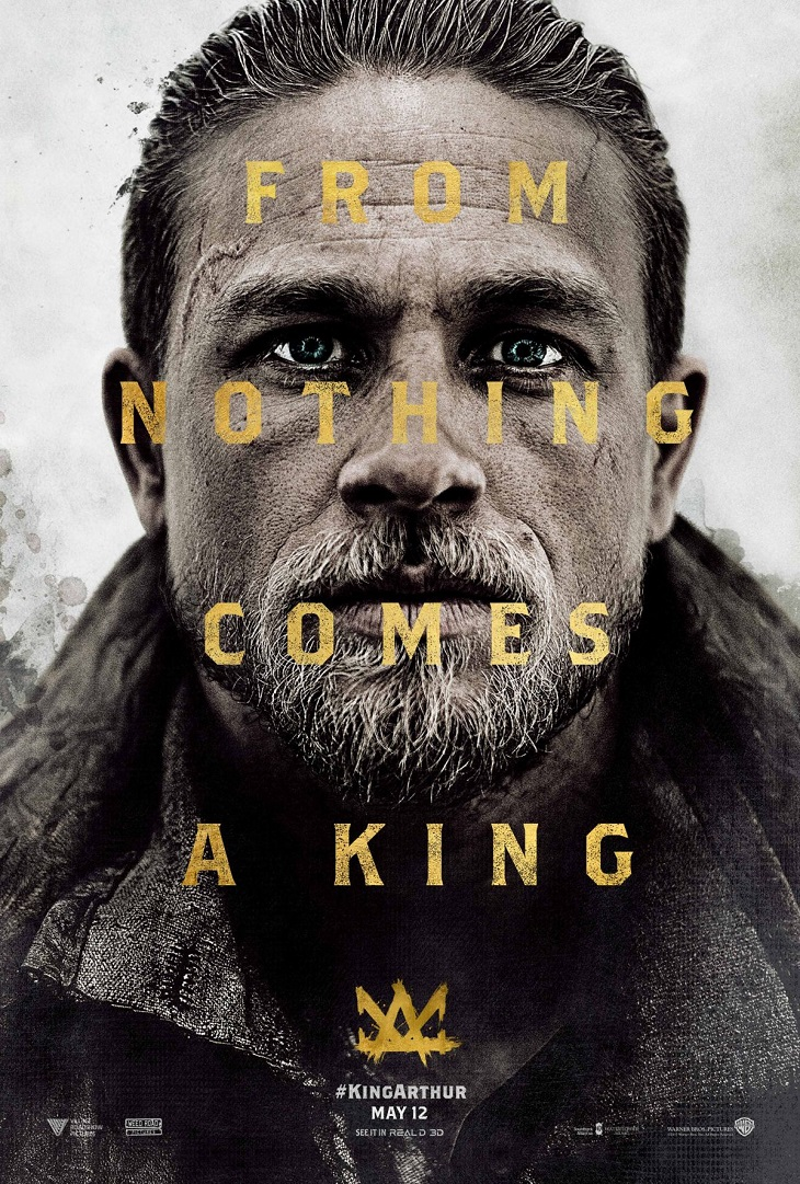Charlie Hunnam se convierte en rey en 'King Arthur: Legend of the Sword'