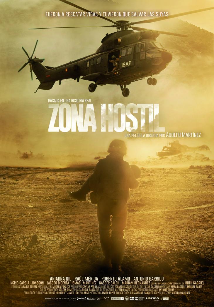 Os traemos el espectacular tráiler de 'Zona hostil' un film bélico español basado en hechos reales