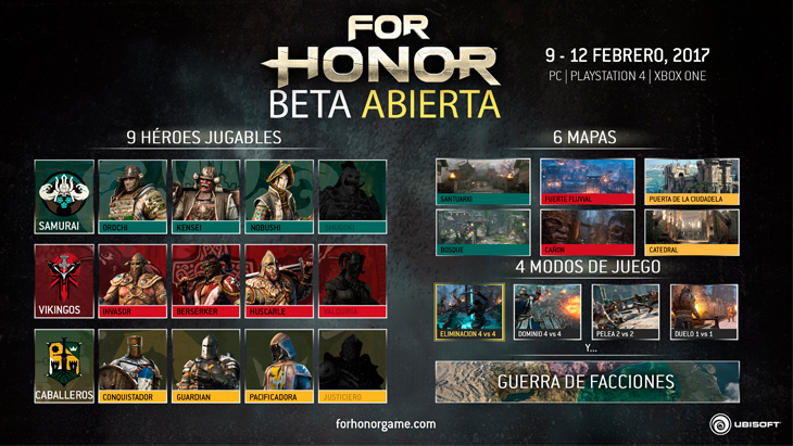 Beta abierta 'For Honor'