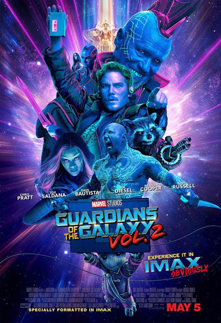 Póster IMAX deGuardianes de la Galaxia Vol.2