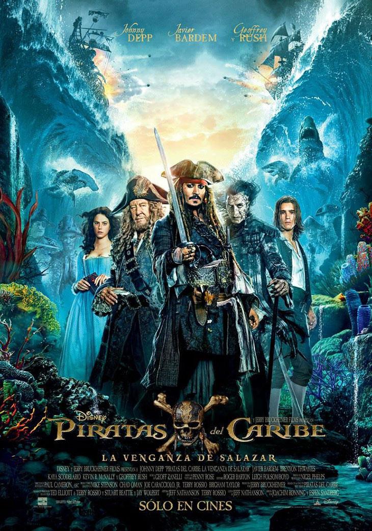 Nuevo póster en español de 'Piratas del Caribe: la venganza de Salazar'