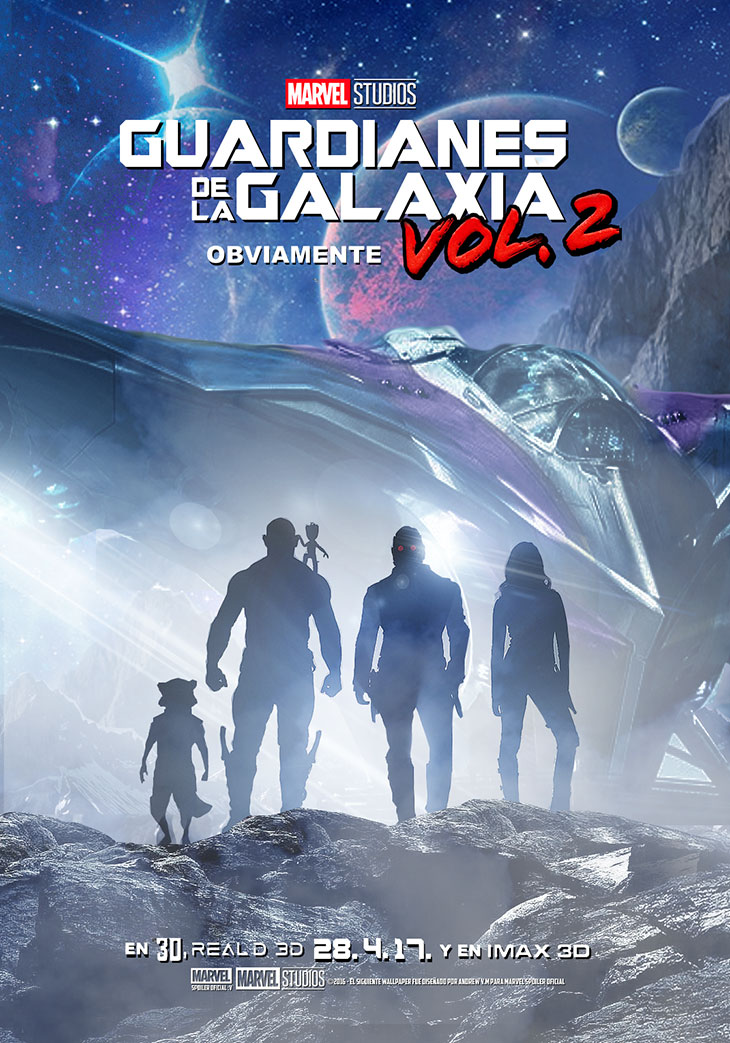 Cartel de Guardianes de la Galaxia Vol. 2