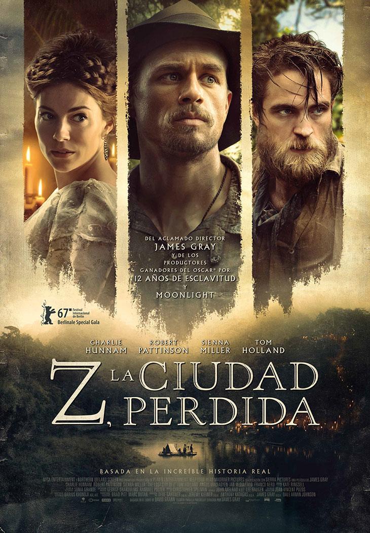 cartel en español de 'Z: La ciudad perdida'