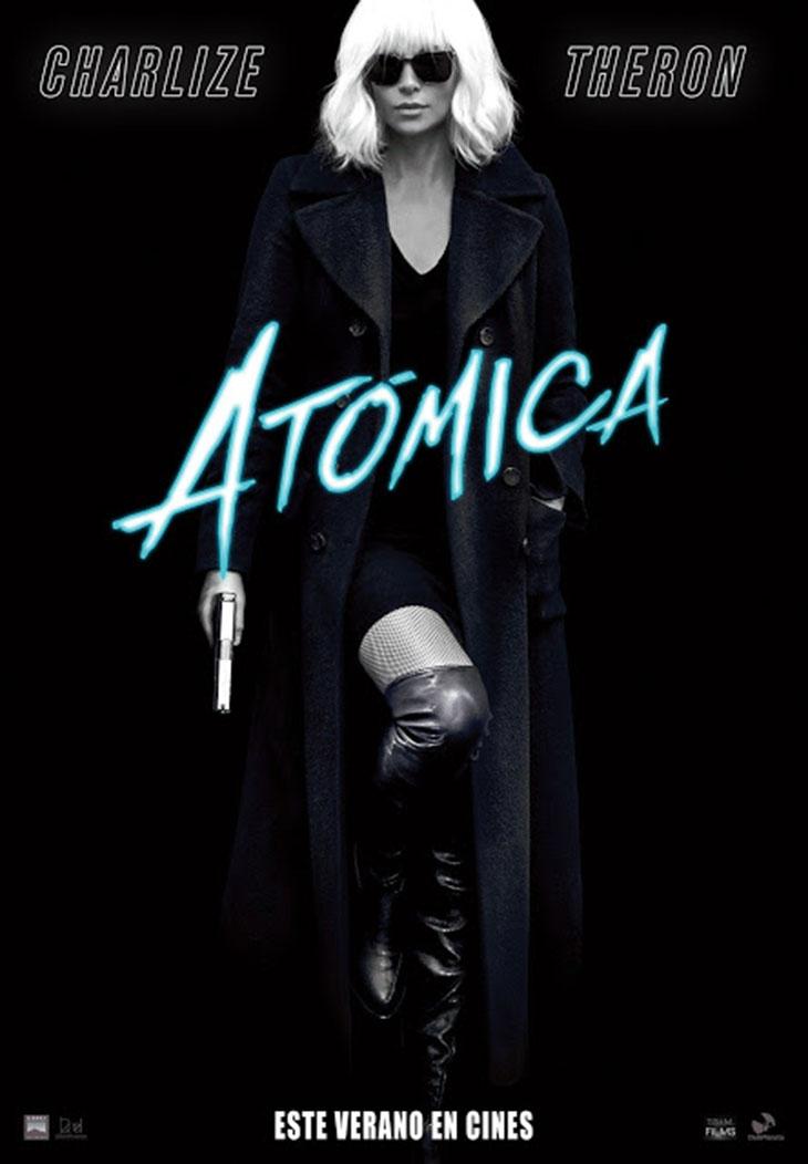 Póster en español de 'Atómica'