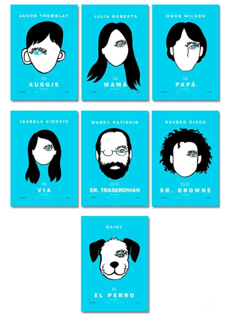 Nuevos pósteres de personajes de 'Wonder'