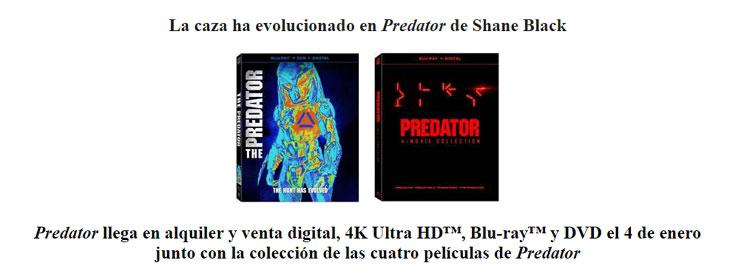 Carátulas de Predator