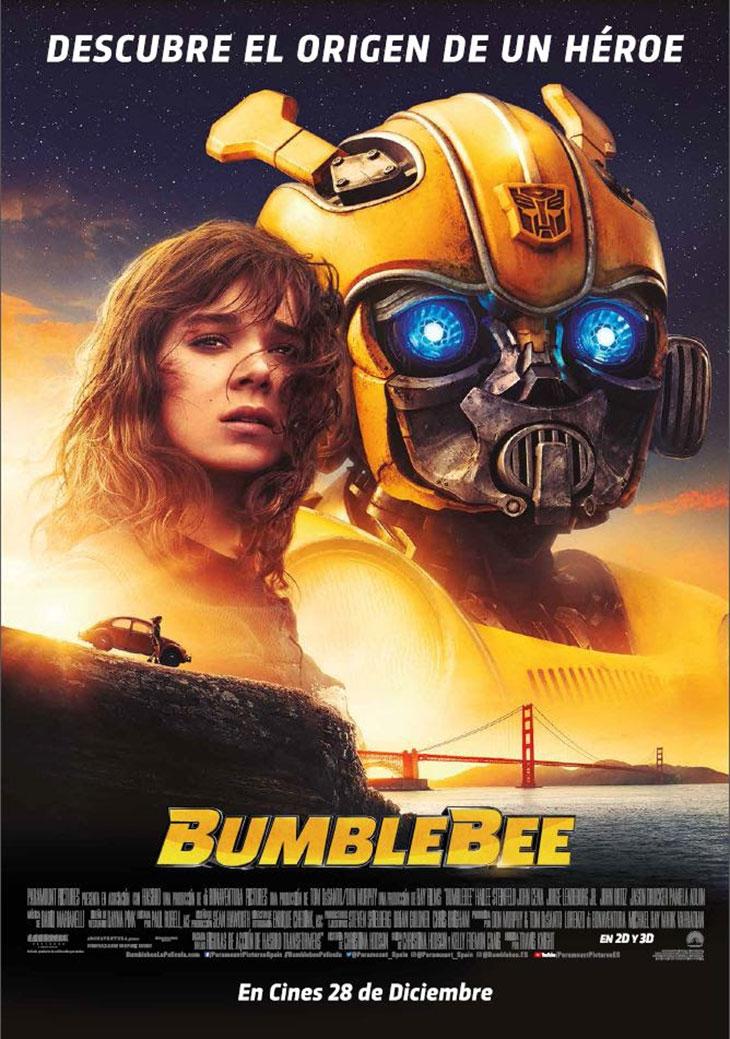 Póster definitivo en español de 'Bumblebee'