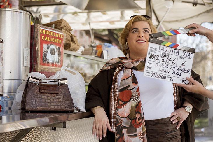 Una imagen del rodaje de Paquita Salas