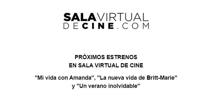 Próximos estrenos Sala virtual de CIne