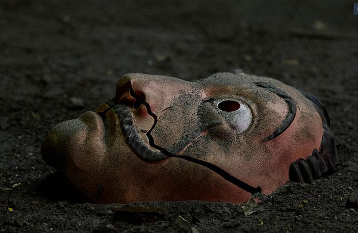 La ya icónica máscara de La casa de Papel