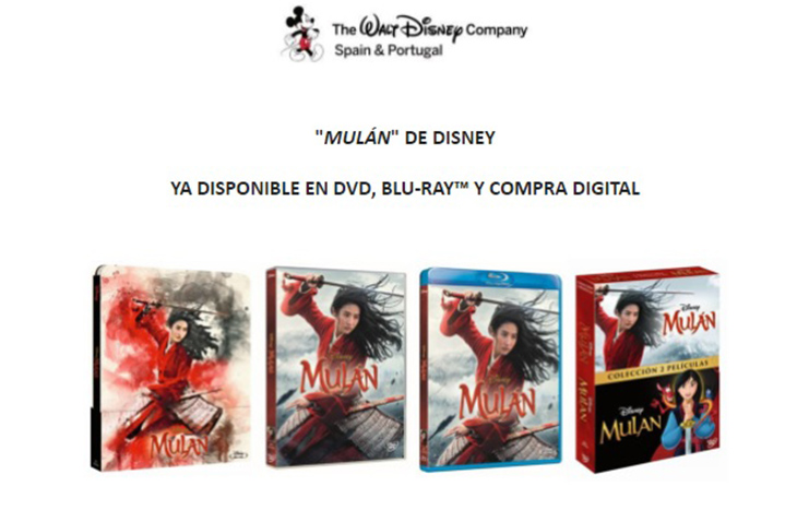 Carátulas de Mulán, de Disney