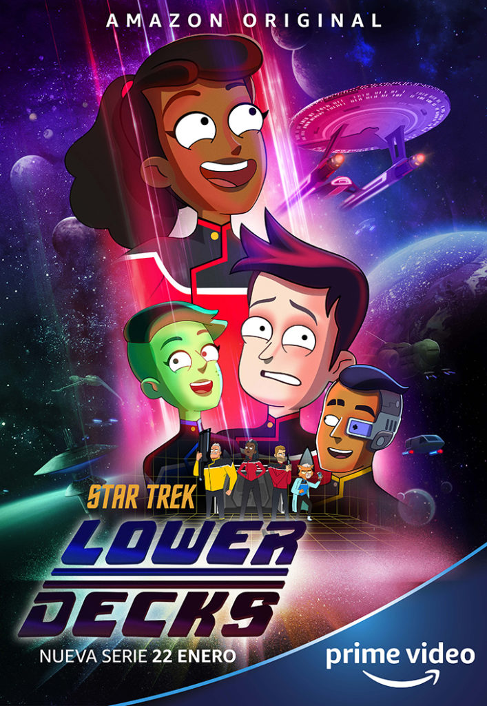 Póster de la serie animada 'Star Trek: lower decks'