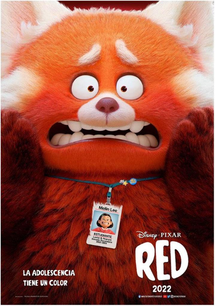 Póster de la película 'Red' de Disney y Pixar