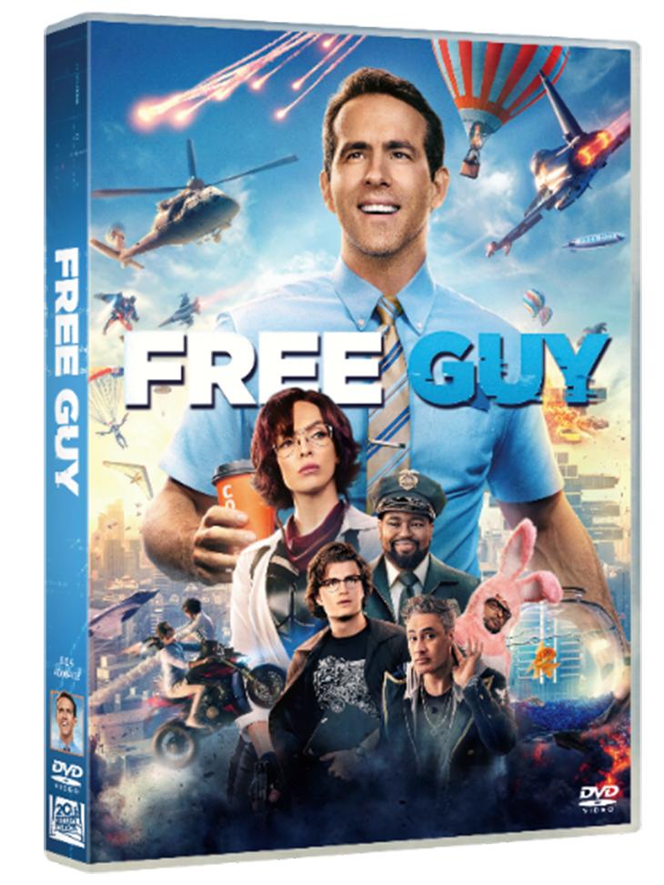 Carátula del DVD de Free Guy