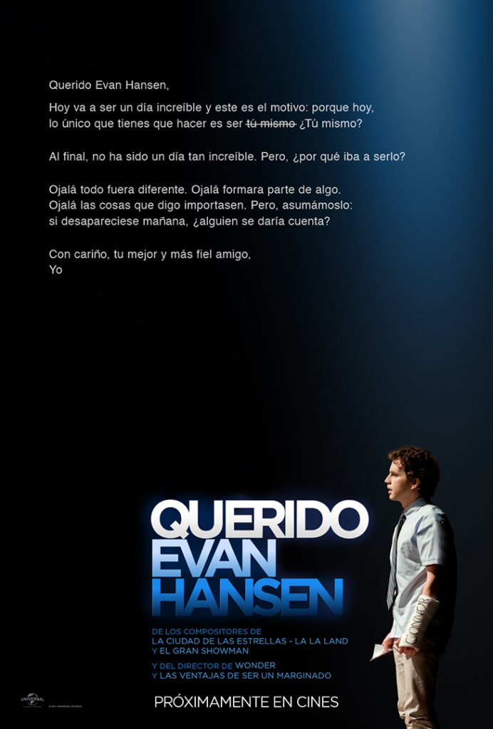 Póster de la película 'Querido Evan Hansen'
